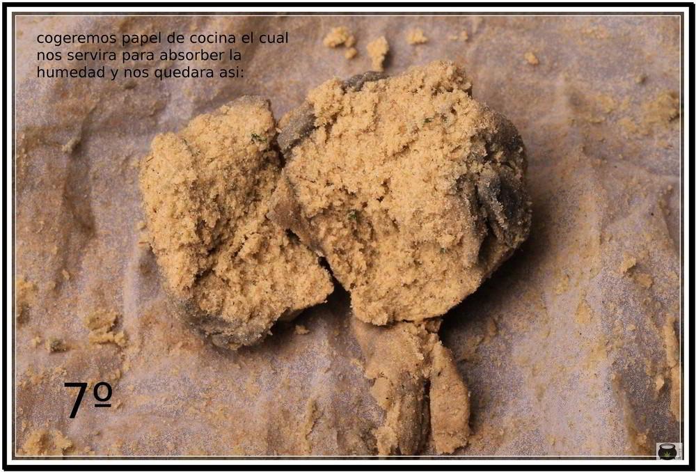 Paso 7 para extraer el hachis de la marihuana 7: Cómo extraer resina de la cosecha de tu cultivo de marihuana - Cómo hacer Ice o Lator