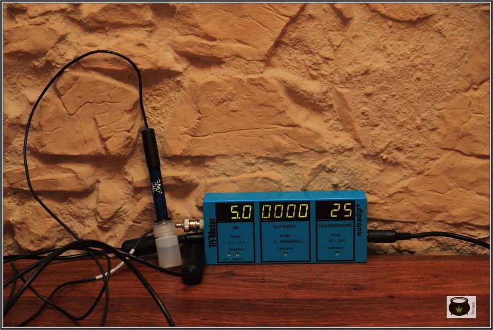 Monitor trimetrer nutradip para cultivo de interior de marihuana