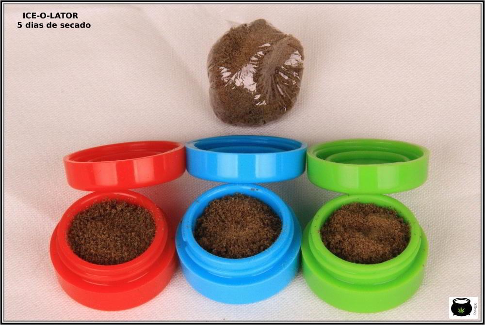 Transformación de una extracción de resina de marihuana 7: Cómo se transforma una extracción de ice o lator