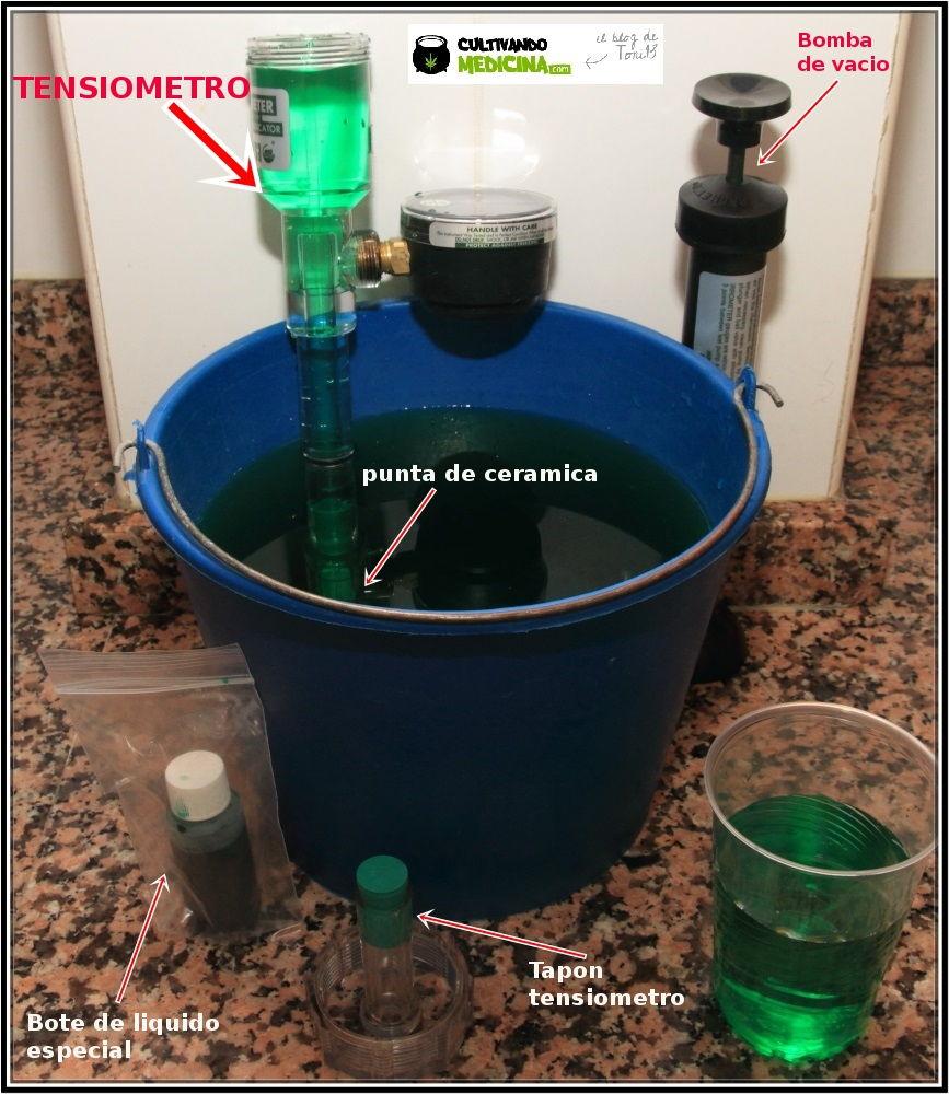 Tensiómetro para cultivo de marihuana