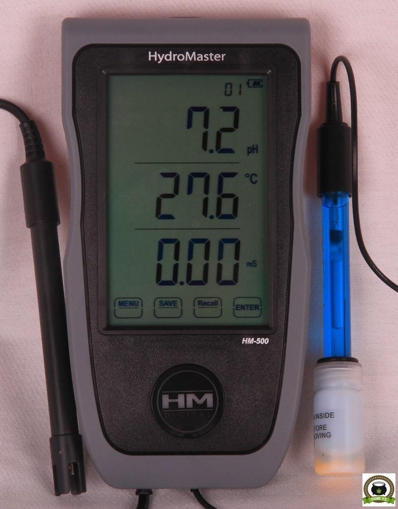 "HM500 Hydromaster monitor PH/Temperatura/EC/TDS de ""HM Digital"""
