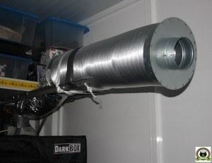 silenciador de armario de interior de marihuana pequeño sodio 250W