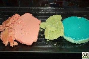 Mantequillas de marihuana de colores en bruto