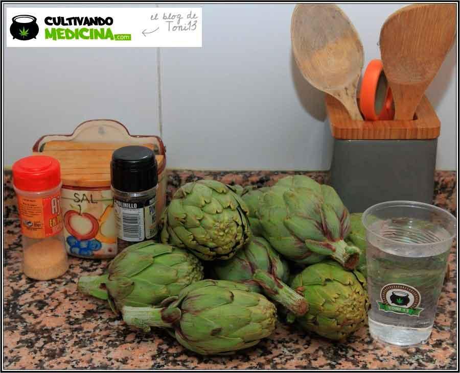 Cocina cannábica: Alcachofas a lo rastafari 1