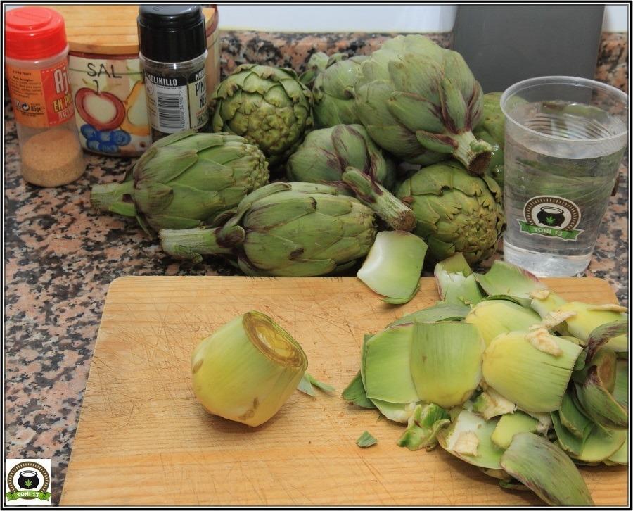 Cocina cannábica: Cómo hacer Alcachofas a lo rastafari 2