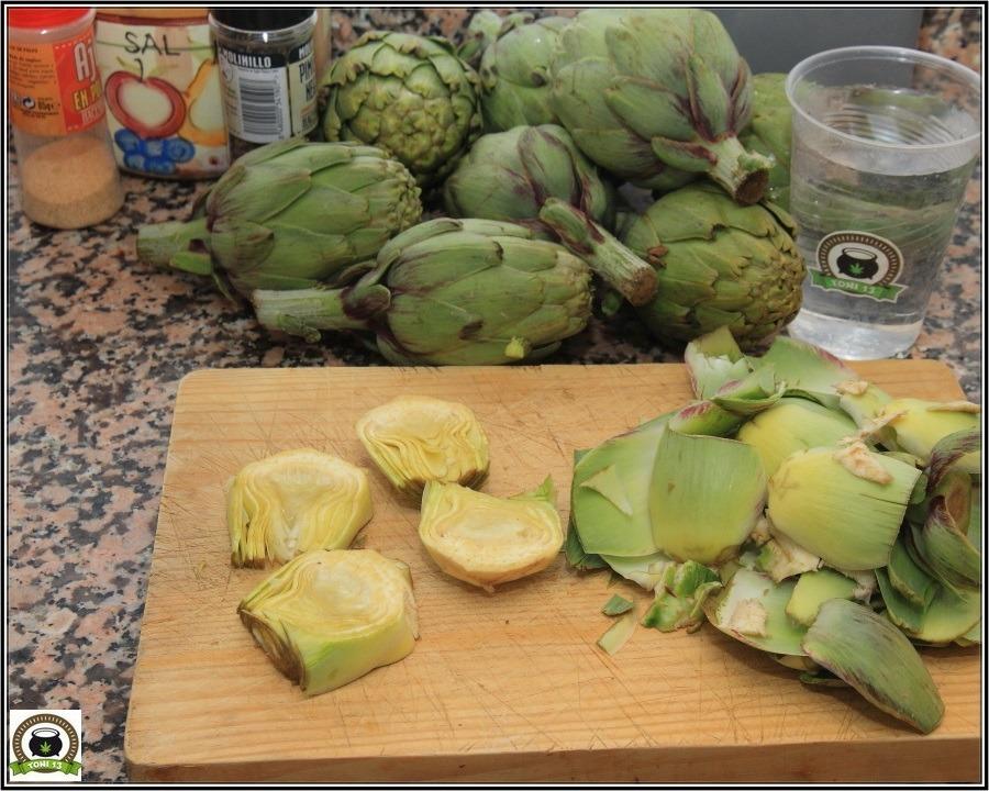 Cocina cannábica: Alcachofas a lo rastafari 3