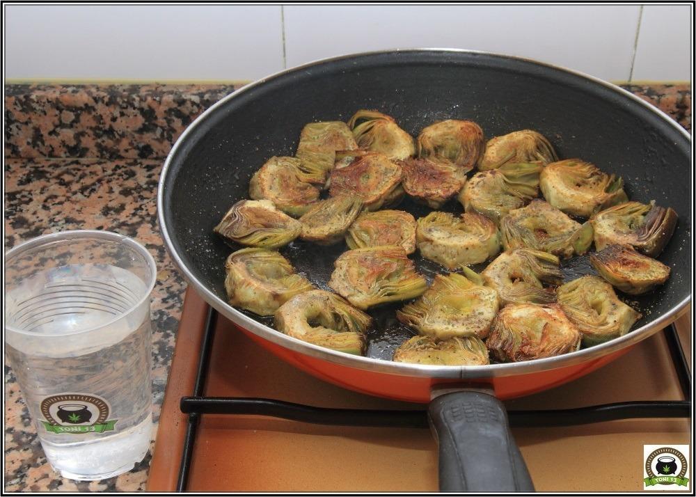 Cocina cannábica: Alcachofas a lo rastafari 6