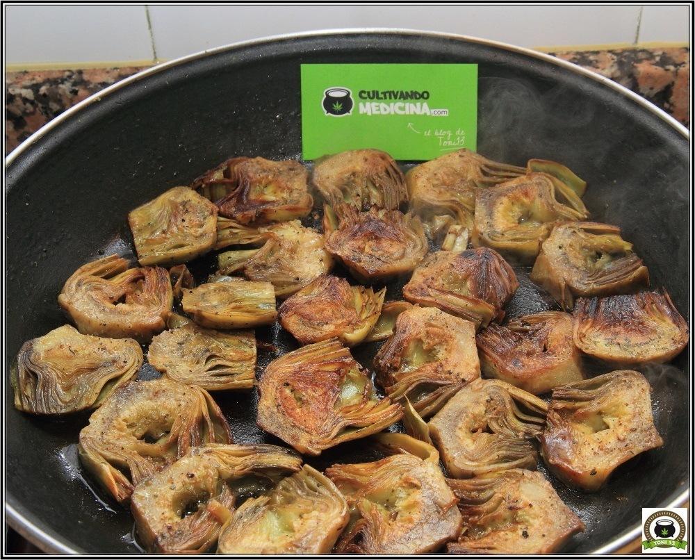 Cocina cannábica: alcachofas rehogadas a lo rastafari 8