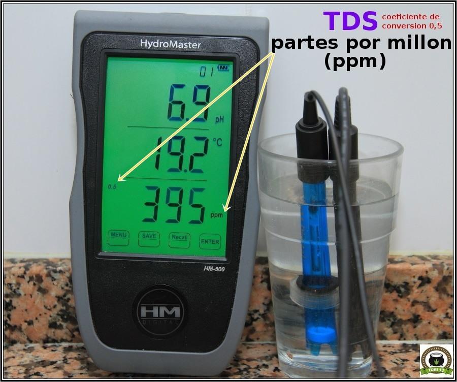 medidores digitales marihuana partes por millón coeficiente 0,5