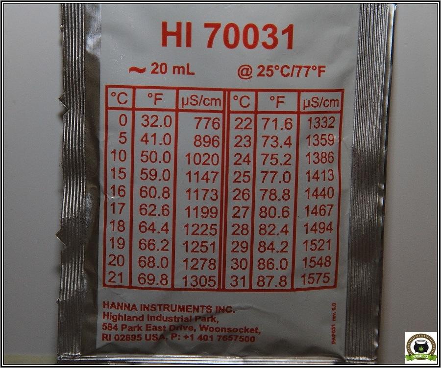 Solución de riego: A diferente temperatura, diferentes valores de PH y EC-1