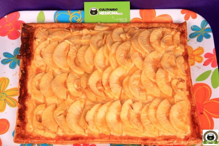 Receta torta de manzana de marihuana cocina cannabica - 6