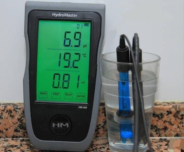 Medidor HM de EC temperatura y PH para el cultivo de marihuana