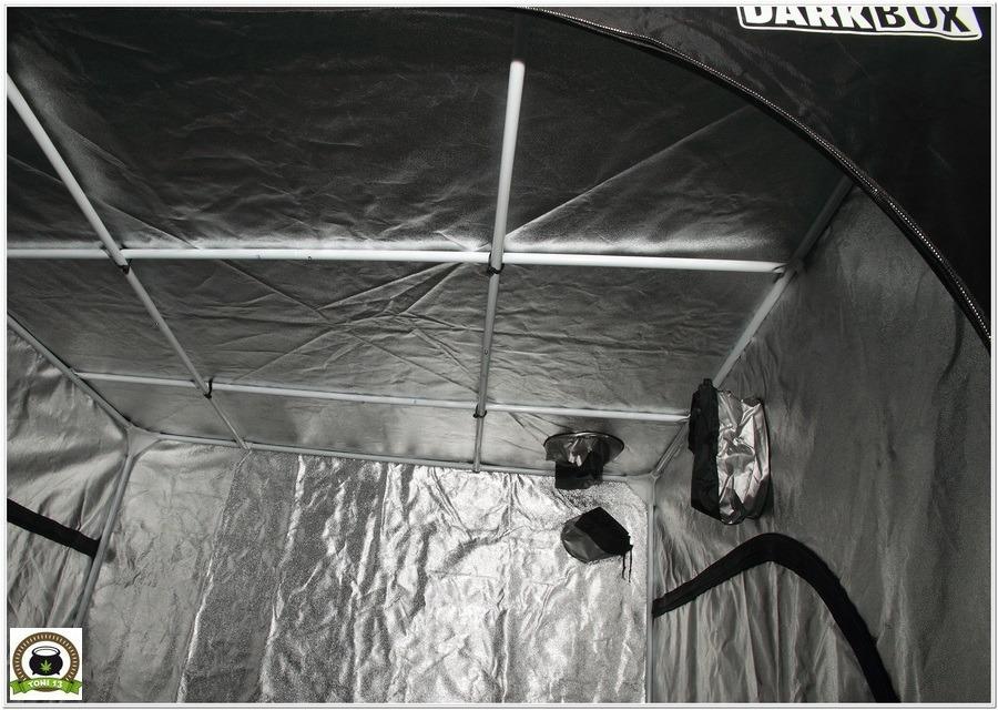 Armario de interior para cultivo de marihuana Dark Box 145x145x200 cremalleras