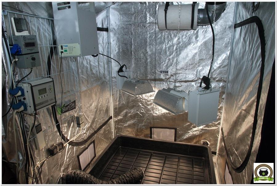 Armario de interior para cultivo de marihuana Dark Box 145x145x200 interior