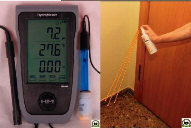 Instrumento medida para marihuana, tratamiento olores marihuana