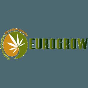 Logotipo Eurogrow, proveedor cultivando medicina. HOME.
